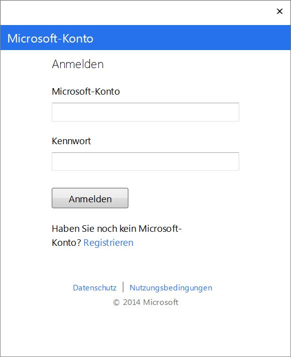 Visual Studio Login Dialog
